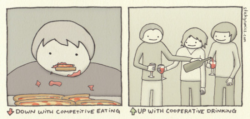 Here's a new sticky comic that concerns — big surprise — food and beverages :) (via Competitive Eating - sticky comics)