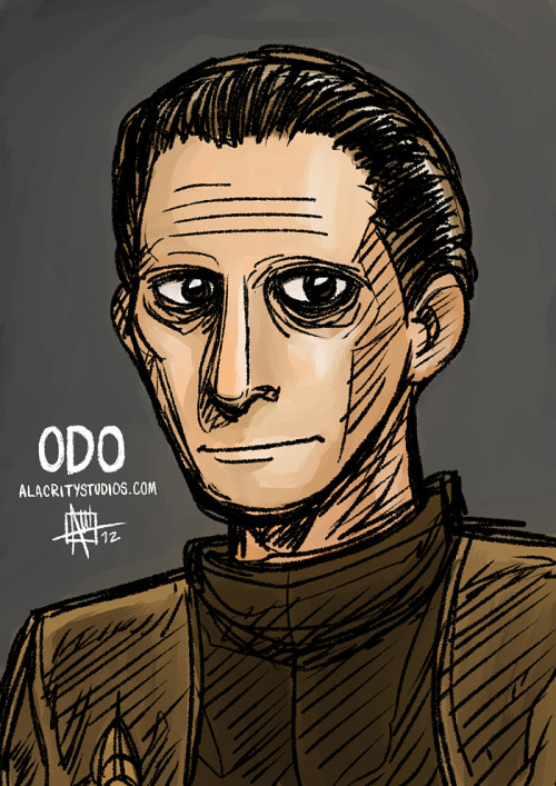 Bonus Update - Odo Here's another Star Trek: DS9 related art I made. Like I said in my last DS9 related post, Odo is my favorite character from the series. I finished watching all of DS9 several weeks ago. It's right up there with the goodness of TNG. My only criticism, is the last season of DS9 was poorer than the other ones, but having six good seasons out of seven isn't bad. More updates to come!