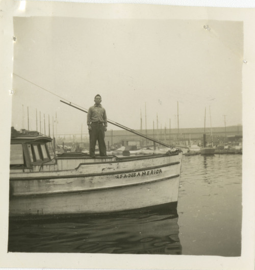 This Japanese-American fisherman was photographed in his boat,America, near Terminal Island (by the Los Angeles Harbor) in 1942. Observing Asian-Pacific Heritage Month To pay tribute to the many generations of Asian-Pacific Americans that have enriched our nation's history, the National Archives at Riverside will be highlighting some of our holdings relating to Asian American history in our region (Southern California, Arizona, and Clark County, NV), including records relating to enforcement of the Chinese Exclusion Act, records relating to Japanese internment and relocation, and many more.  For more information about Asian-Pacific Heritage Month, see http://asianpacificheritage.gov/