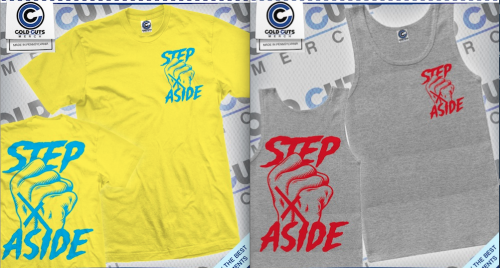 New Step Aside tees + tank tops.  50 of each made.  These are up for grabs already but won't be shipping out for another week.  Pick one up while you can. http://ltlrecs.storenvy.com
