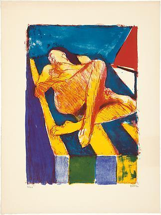 artlog:  Richard Diebenkorn, Reclining Figure II, 1962. Courtesy of Greenberg Van Doren Gallery.
