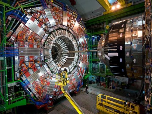"the-star-stuff:  ""Beautiful"" New Particle Found at LHC Xi(b)* a ""brick in the wall"" for solving how matter's made, expert says. An atom-smashing experiment at the Large Hadron Collider (LHC) has detected a new subatomic particle—and it's a beauty. Known as Xi(b)* (pronounced ""csai bee-star""), the new particle is a baryon, a type of matter made up of three even smaller pieces called quarks. Protons and neutrons, which make up the nuclei of atoms, are also baryons. The Xi(b)* particle belongs to the so-called beauty baryons, particles that all contain a bottom quark, also known as a beauty quark. The newfound particle had long been predicted by theory but had never been observed. Although finding Xi(b)* wasn't exactly a surprise, the discovery should help scientists solve the larger puzzle of how matter is formed."
