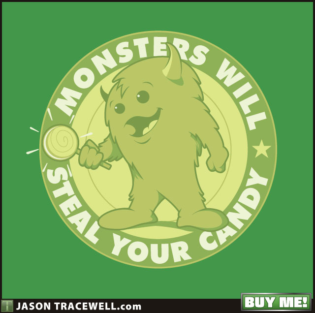 My 'Candy Monsters' design is now up for sale at Redbubble!