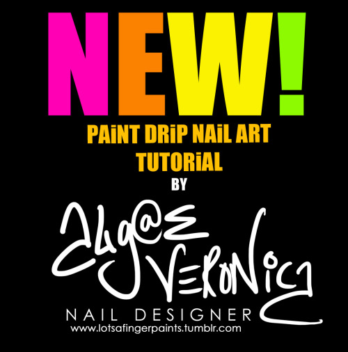 Woohoo! New tutorial! I've had a LOT of people ask me how I do my paint drip nail designs…and here it is! Enjoy!NEW Paint Drip Nail Art How-To Video By Algae Veronica!