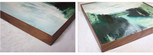 I have recently had Woodseaves framed with a walnut 'tray' frame. The tone of the wood compliments my colour palette and the thin face of the frame adds a modern element.