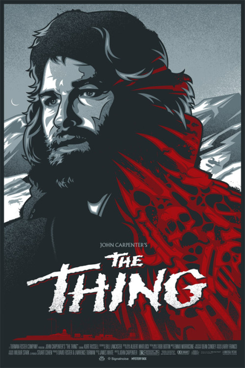 Brilliant poster for The Thing by James White and the Signalnoise Studio (@signalnoise)