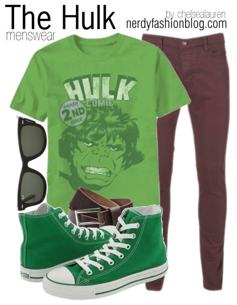 The Hulk | Marvel by chelsealauren10    Converse sneaker, $45The Hulk Smash 2nd Issue T-Shirt, 249 SEK$31 Washed Purple Strech Skinny Jeans by Topman