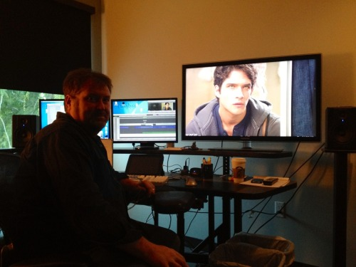 Working on episode 2 with Ed Abroms one of our Teen Wolf editors.