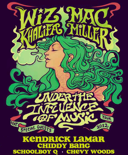 "Excited to be joining Wiz and Mac this summer on the Under the Influence of Music tour. It's gonna be dope! 7/26 - Cincinnati, OH @ Riverbend Music Center (Tickets)  7/27 - Tinley Park, IL @ First Midwest Bank Amphitheatre (Tickets)  7/28 - Noblesville, IN @ Klipsch Music Center (Tickets)  7/29 - Toronto, ON @ Molson Canadian Amphitheatre (Tickets)  8/1 - Mansfield, MA @ Comcast Center (Tickets)  8/2 - Wantagh, NY @ Nikon at Jones Beach Theatre (Tickets)  8/3 - Camden, NJ @ Susquehanna Bank Center (Tickets)  8/4 - Burgettstown, PA @ First Niagara Pavilion (Tickets)  8/5 - Clarkston, MI @ DTE Energy Music Theatre (Tickets)  Watch the ""Mind Your Manners"" video, and download Breakfast on iTunes. UK, pre-order the ""Mind Your Manners"" Remix EP on iTunes out 27/5"