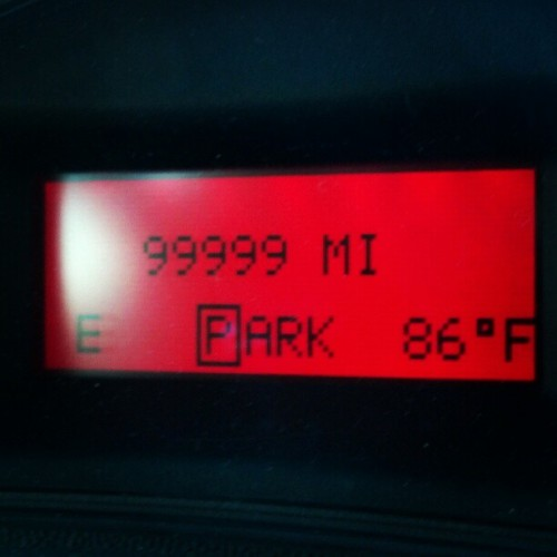 86 degrees!!! Oh, and it's almost my car's 100,000 mile birthday (Taken with instagram)