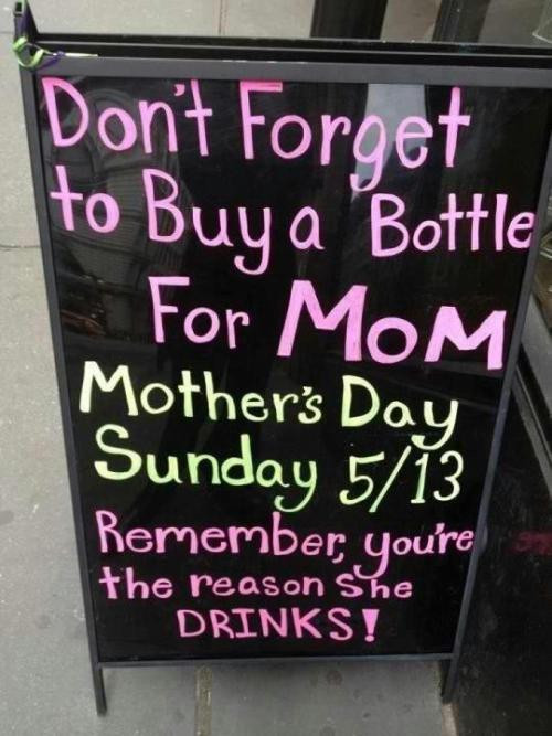 or she's the reason you drink… i kid, i kid. off to see my mom and entire family because baby brother is graduating! look out world.