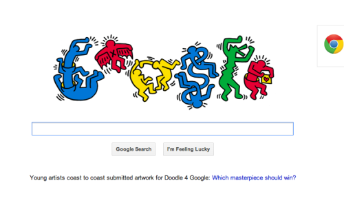 Google for Keith Haring's 54 Birthday! Super Cool!