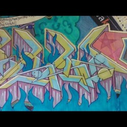 #S #S #Z #tumblr #twitter #facebook #prismacolor #graffiti #blackbook #art #followme #follow #closeups #flawlessz #letters #chapstick  (Taken with instagram)