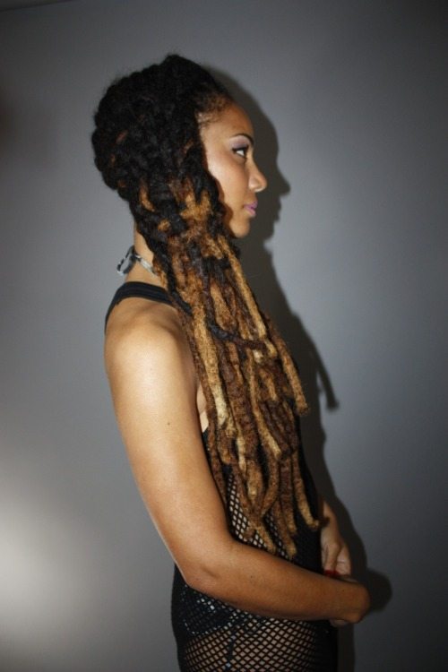 mylocbox:  livelaughlovelocs:  Luna Angel // Natural Hair Style Icon  by Black Girl With Long Hair  hair weaving…one of those techniques i keep meaning to incorporate in daily styles