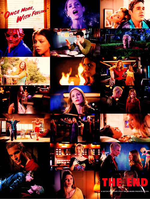 emmahyphenjane:   Buffy the vampire Slayer Rewatch | 6.07 - Once More With Feeling  Buffy: Well I'm not exactly quaking in my stylish yet affordable boots, but there's definitely something unnatural going on, and that usually doesn't lead to hugs and puppies.