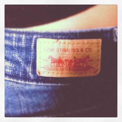3. Something I wore today. Levi's jeans.  #photoadaymay #levi's #jeans (Taken with instagram)