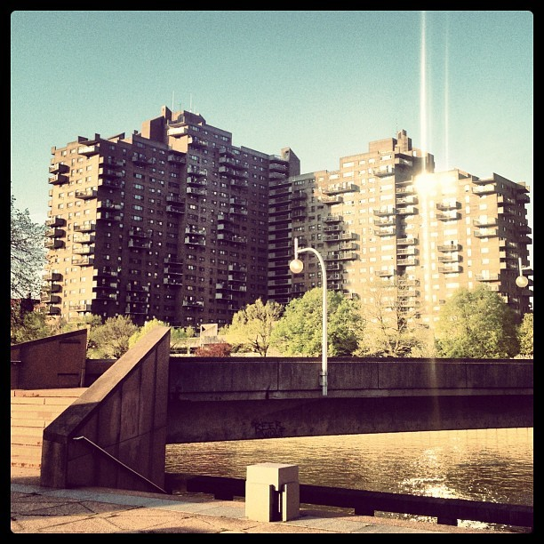 Balconies and bridges, a parkour playground.  (Taken with instagram)
