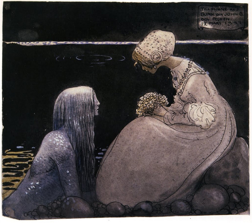 dreaminparis:  Water Creature by John Bauer, 1977