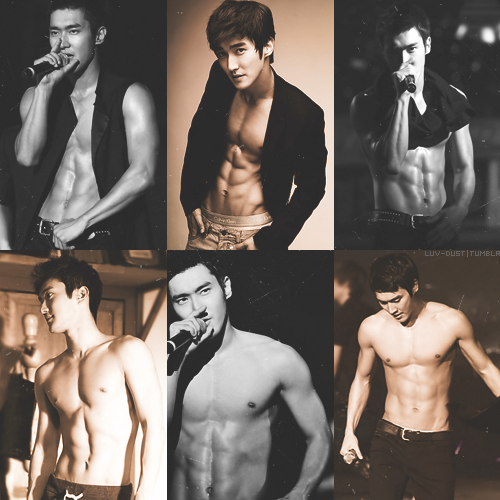 10 favorites abs in kpop → choi siwon