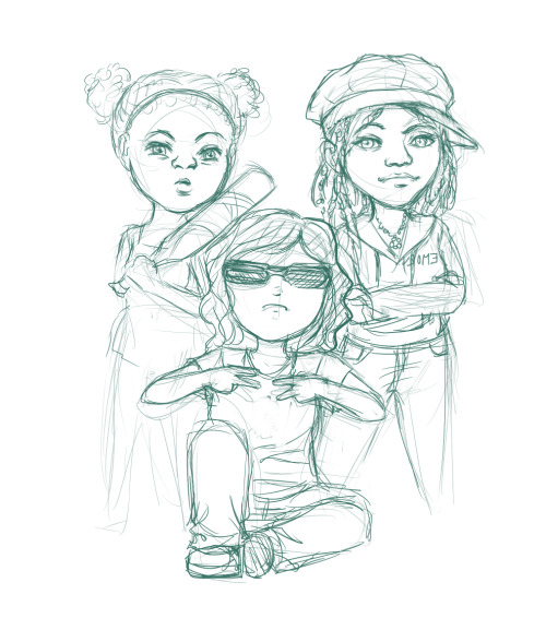 This is a chibi that I will soon finish. These are two of my best friends from college, Saibre and Meka. We were at Lindbergh station trying to be Ghetto.