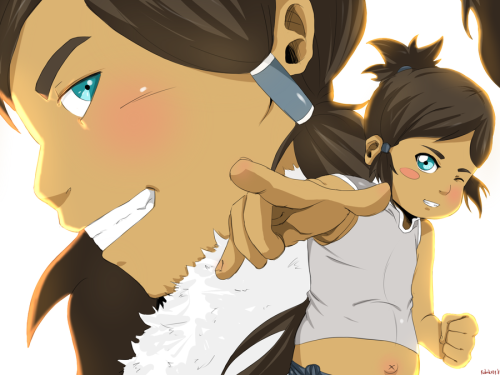 Posted this originally in Deviantart. Lil' Korra's hand is too big…meh. So many mistakes but I'm still learning.