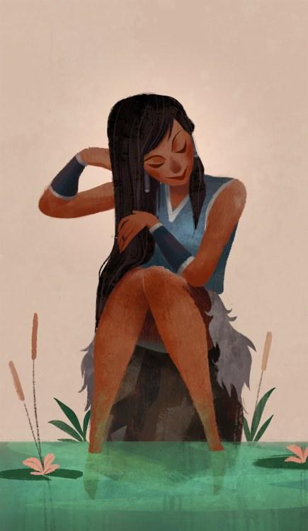 akithefrivolitious:  Korra, as drawn by Dreamworks artist, Steve Lewis.  Gorgeous. One of my favorite interpretations <3