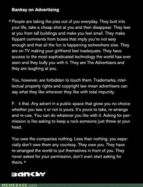 housewifeswag:  it's a bit long but read it. i have so much love for banksy.