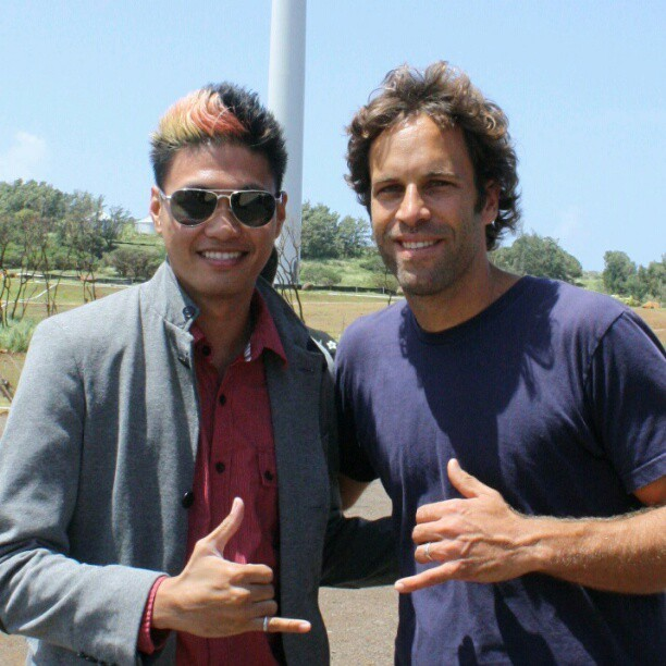 #TBT Me and #JackJohnson at the #FirstWind #Kahuku #WindFarm #Blessing #dancer #musician #Artists #renewable   (Taken with instagram)