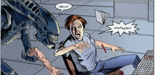 thanosthemadtitan:  Hello?  At least the Xenomorph is polite.