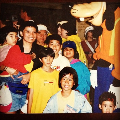 We literally grew up in Disneyland!! The times where the fam color coordinated.. Come fuxx wid us!