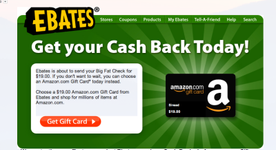 Awesome-sauce. Ebates is now offering to pay in Amazon gift cards, so if you cant't wait for a check or don't have a bank account or you spend too much money on amazon…..this is pretty sweet! Ebates give you a % of your online purchase back, it can be anywhere from 2 - 20% and some days there is double cash back! If you online shop at all I seriously recommend you sign up and use their service, it's a great way to save money. That $19 is just from a handful of purchases.