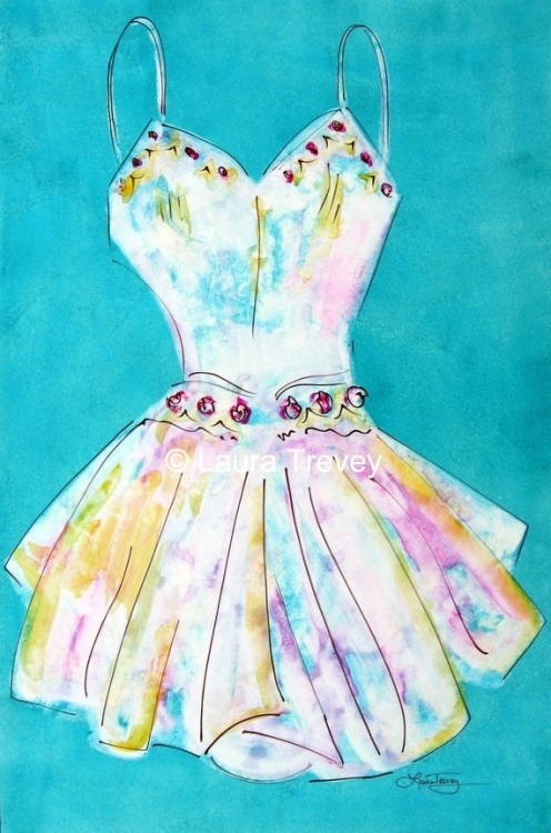 Turquoise Dress print by Laura Trevey on Etsy