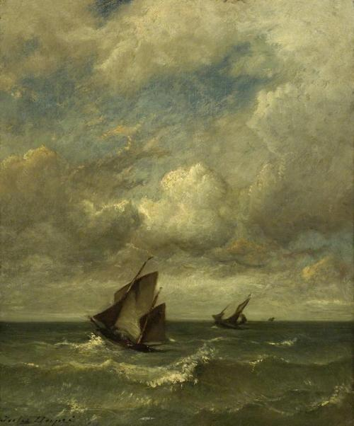 Jules Dupré - Shipping in a Breeze