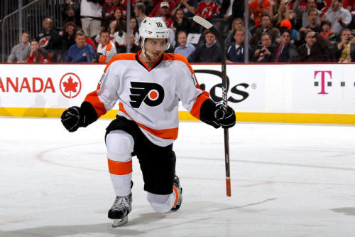 With the first goal of the night, Schenn had the Flyers up 1-0