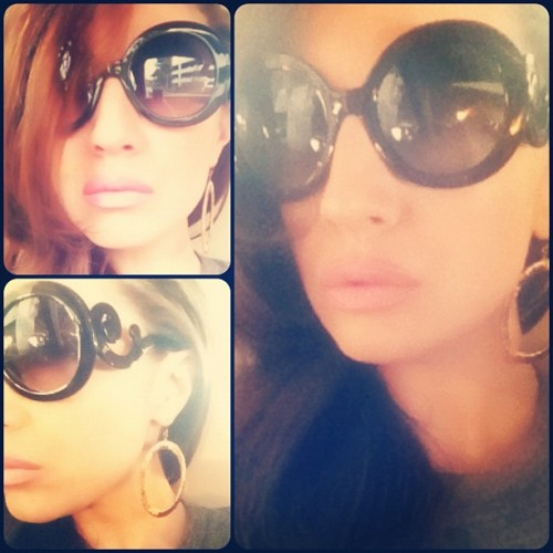 Re-Create Yourself… Wearing Baroque Sunglasses.  (Taken with instagram)