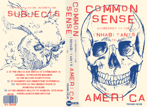 COMMON SENSE by Thomas Paine - book cover design