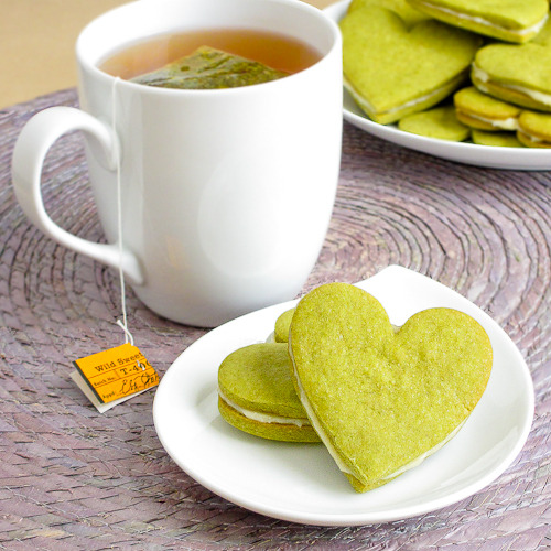 Honey Green Tea Sandwich Cookies. Perfect for tea time at my house!