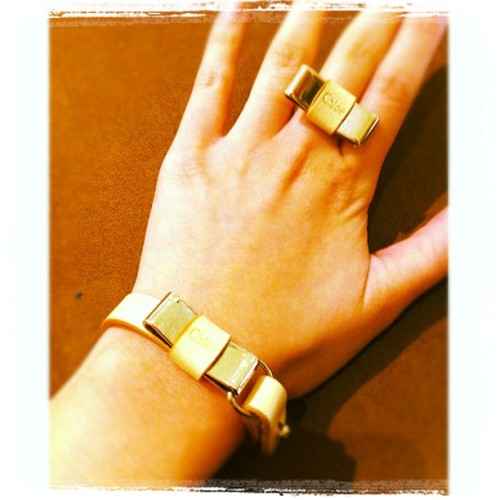 To buy or not to buy!? That is the question…. #chloe #bracelet $259 #ring $255 #designer #shopping #accessories #Jewellery #instagram #instadaily #iphone  (Taken with Instagram at David Jones Headoffice)