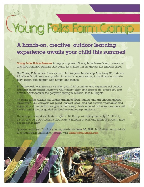 Register Your Child Here!  (email forms to youngfolksurbanfarmers@gmail.com)