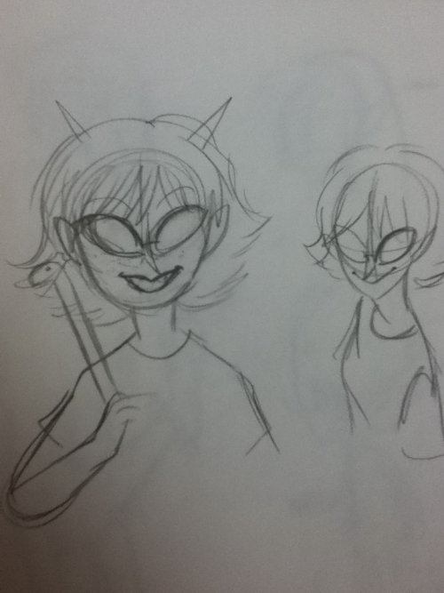 Guess who can't draw Terezi consistently