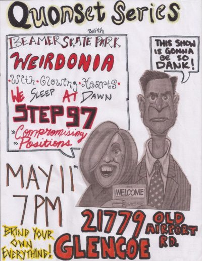 Check out the sick flier that our gnarly friend made for the Quonset show! Gonna be dank!