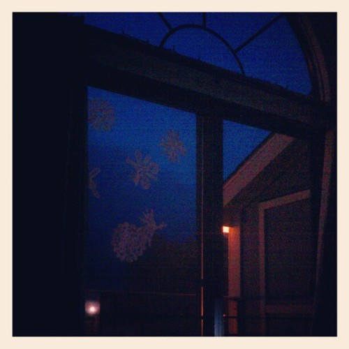 It might be time for those paper snow flakes to go. (Taken with instagram)