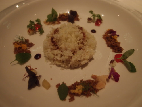 Cauliflower Cous-cous with Solid Aromatic Herb Sauce @ Next (Chicago, IL)