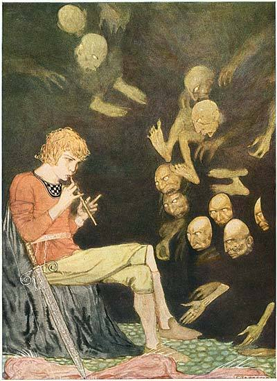 thmazing:  Gustaf Tenggren 'Piper of the damned' from Grimm's Fairy Tales (1923)