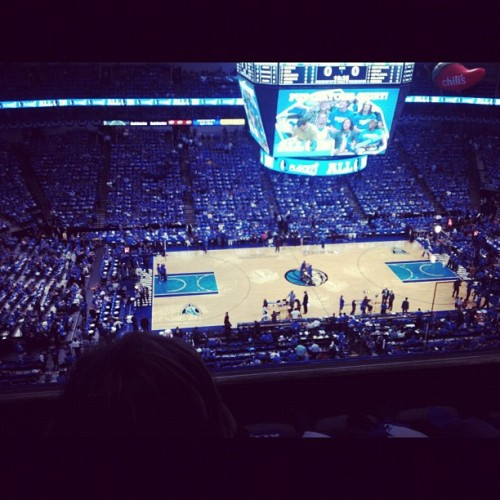 all that blue doe :) LET'S GO MAVSSSSS :)  #DallasMavericks #NBA #playoffs (Taken with instagram)
