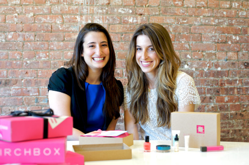 Birchbox Co-Founders, Hayley and Katia. Photography by Carol Dronsfield for Matchbook's May issue.