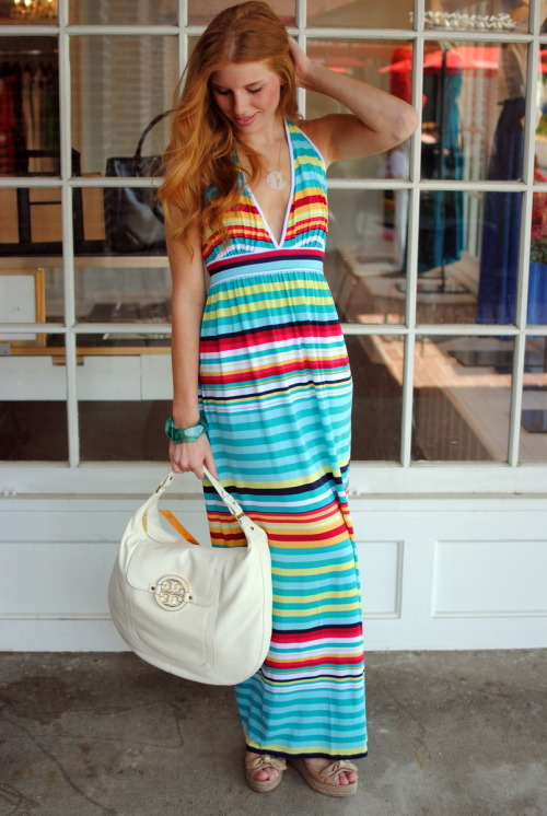 This @TartCollections stripe maxi has been a cult favorite ever since we put her in the window.