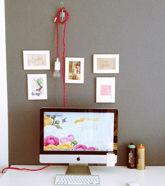 DIY crochet hanging light