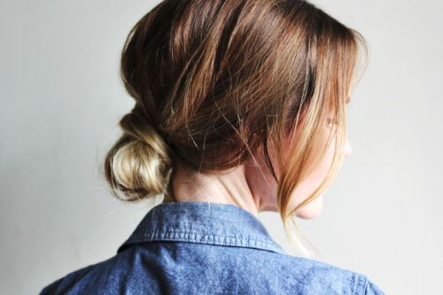 texturism:  twist + chambray. | via  veronicalovesarchie