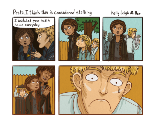 Poor Peeta. He's totally one of my favs.  Original comic posted on my tumblr here: http://bookofkellz.tumblr.com/post/22340979924/poor-peeta-hes-totally-one-of-my-favs-drew